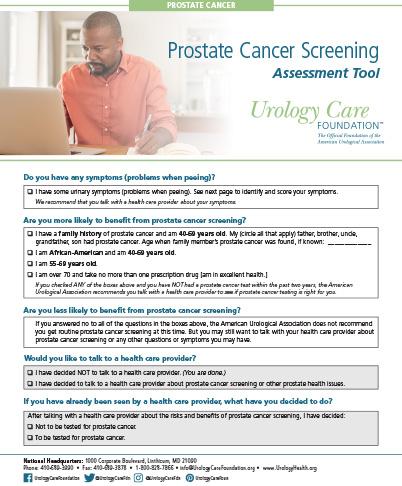 Prostate Cancer Screening Fact Sheet